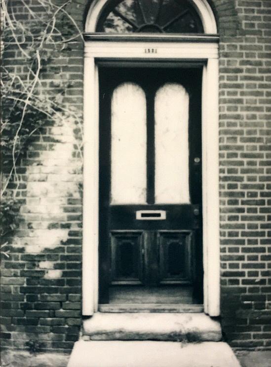 Pine Street Door | Fuji Instax Mini 90 | Fuji Instax Monochrome Film | Clarice Barbato-Dunn