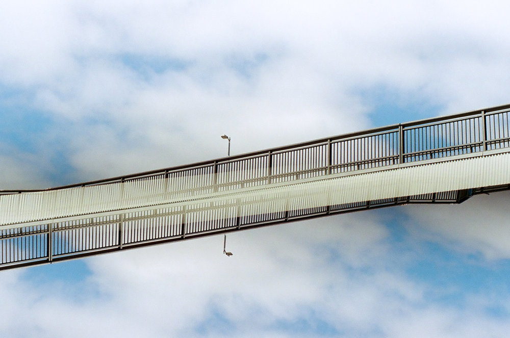 Skybridge | Chinon Memotron II | Double Exposure | Kodak Gold 400 | Jane McLoughlin