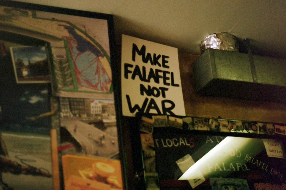 Sophie Auffret | Falafel truths | Canon A-E1 | Kodak Portra 400