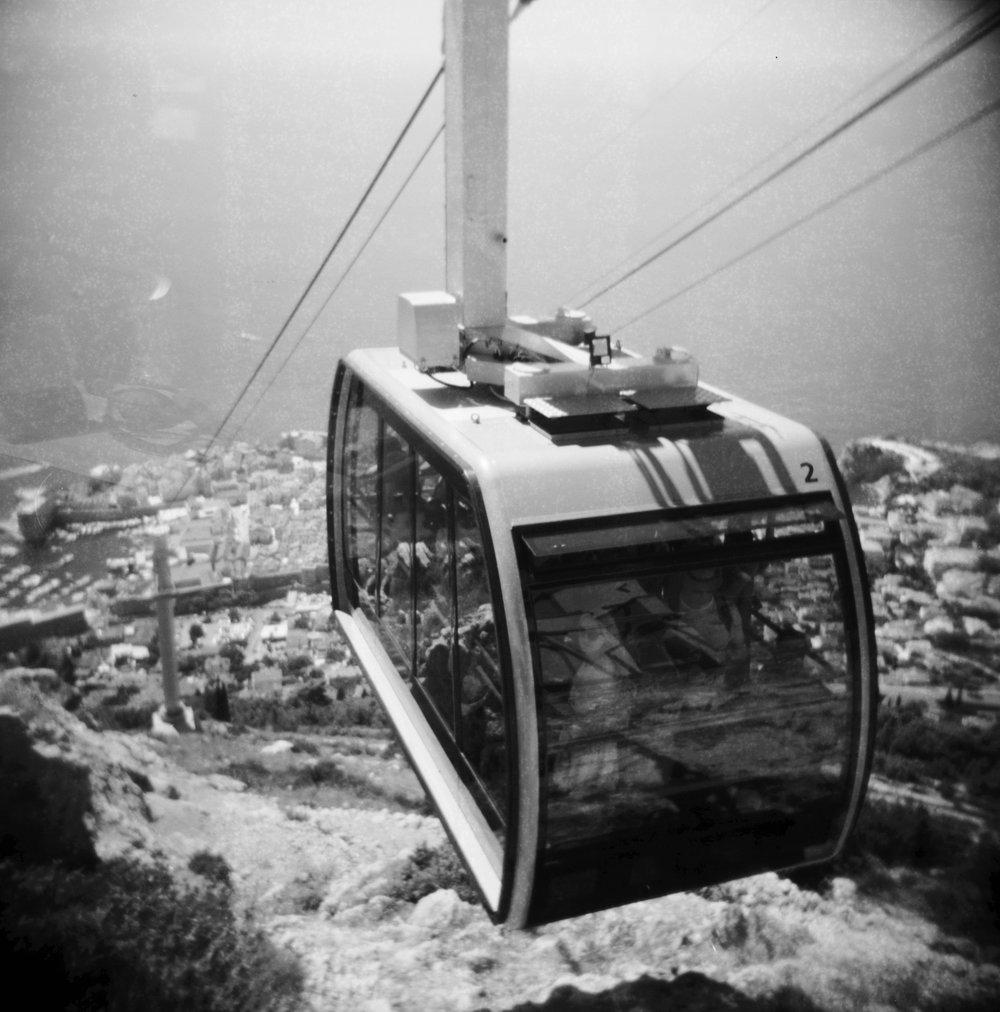 Cable Car | Holga | Expired PX100 | Katt Janson Merilo