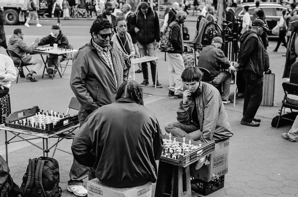 Michael Fauscette | Checkmate | Leica M6 | Summilux 50/1.4 | Kodak Tri-X
