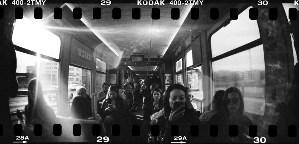 Daily Commute | Lomo Sprocket Rocket | Kodak TMax 400 | Daniel Stoessel