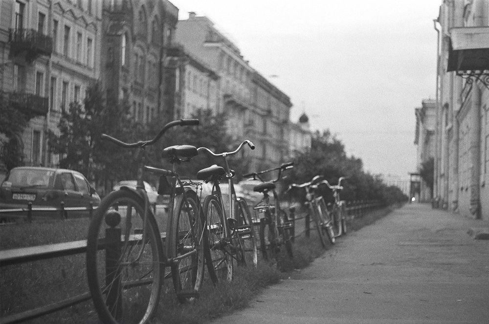 Students' Bicycles | Zenit TTL | Helios 44 f/2 | Robert Potekhin