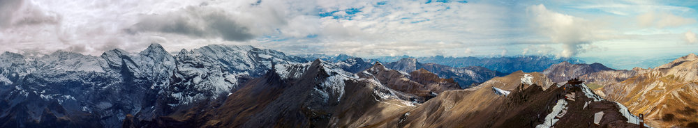Schilthorn Panorama Of 5 Pics | Fuji GSW690II | Kodak Portra 160 | Daniel Stoessel