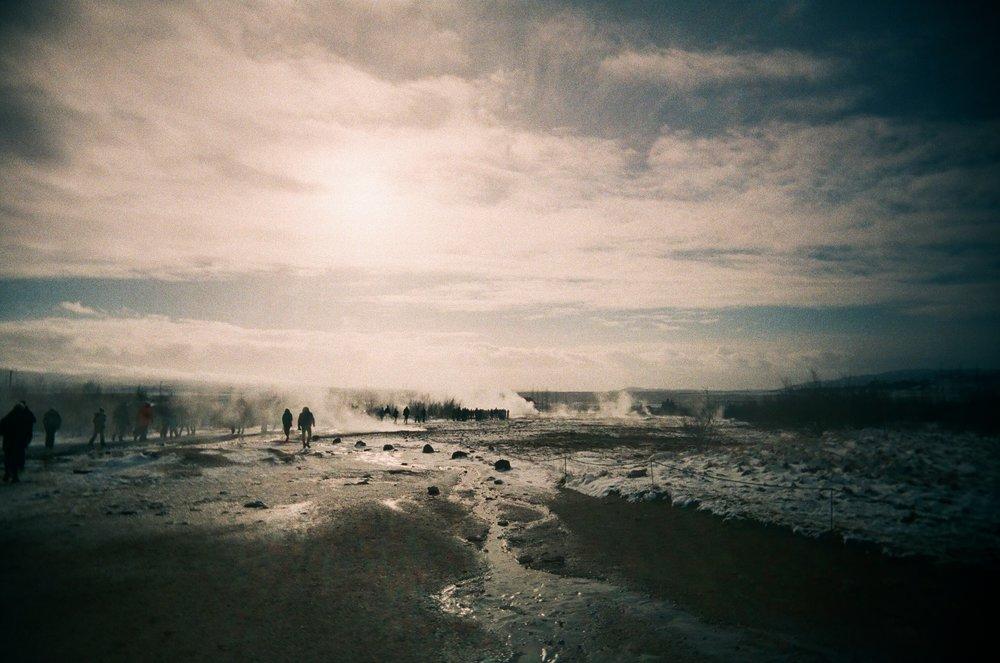 Geysir Field | Vivitar UWS | Fuji NPZ 800 | James Davies
