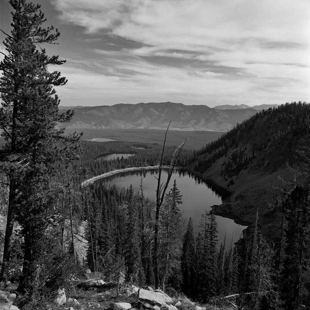 The view from Bench Lake #5 Rolleiflex FW, Ilford FP-4 plus