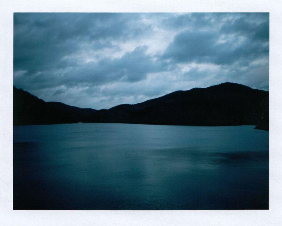 Blue Landscape | Polaroid Land Camera 330 | Fuji FP-100c Silk | Ioana Taut