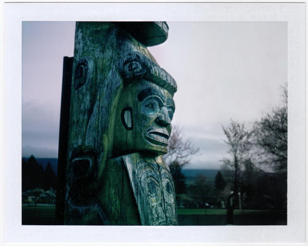 Shíshálh Totem | Polaroid 250 | FP100c | Sandy Skene