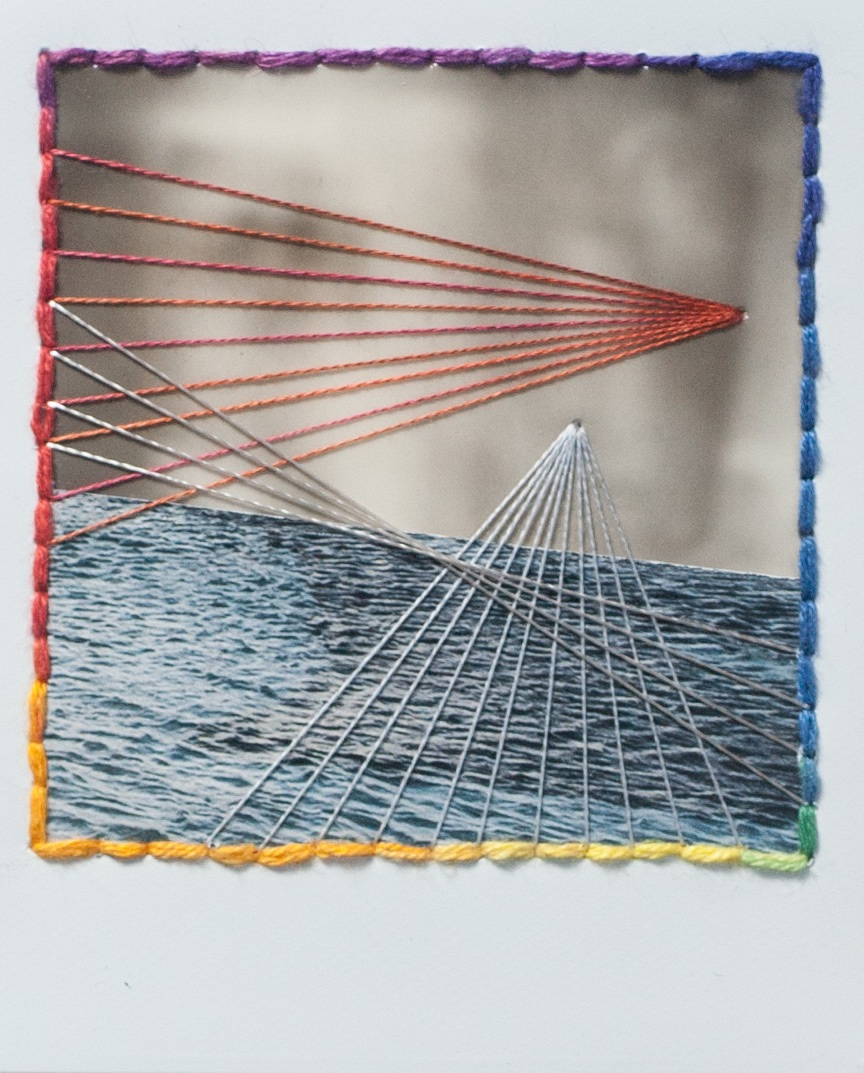 Intersection | Polaroid SX70 | Film Type Unknown | Sewn Threads | Jocelyn Mathewes