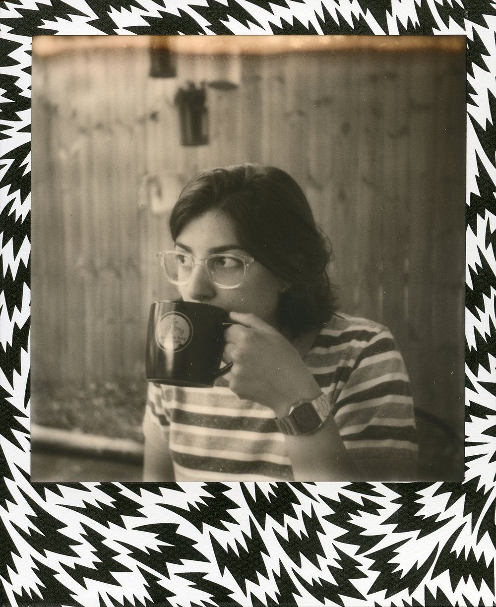 Taryn | Polaroid Sun 660 | Impossible black and white expired film | David Burgh