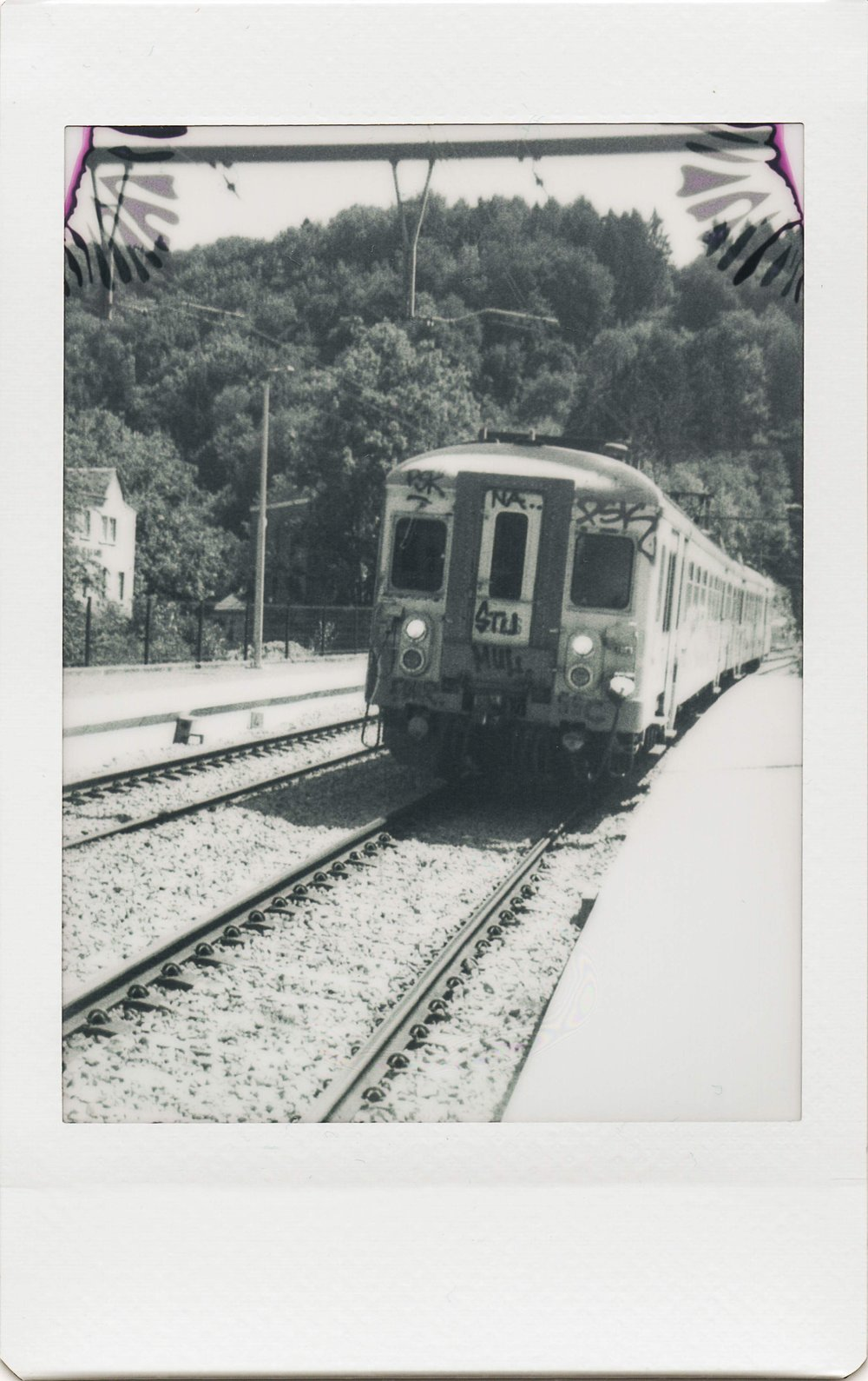 Untitled Train | Jollylook | Instax Mini Monochrome | Karin Claus