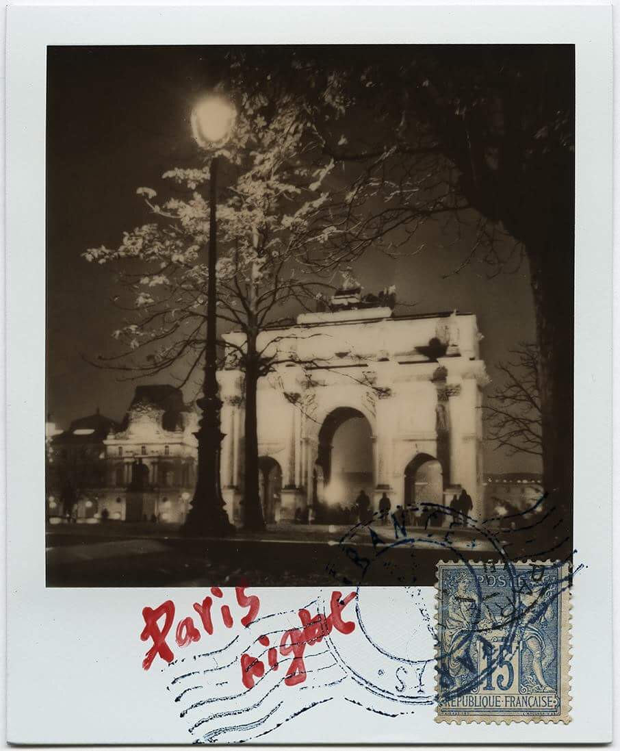 Paris Night | Polaroid 680 | Impossible Project 600 B/W | Xulong Zhang