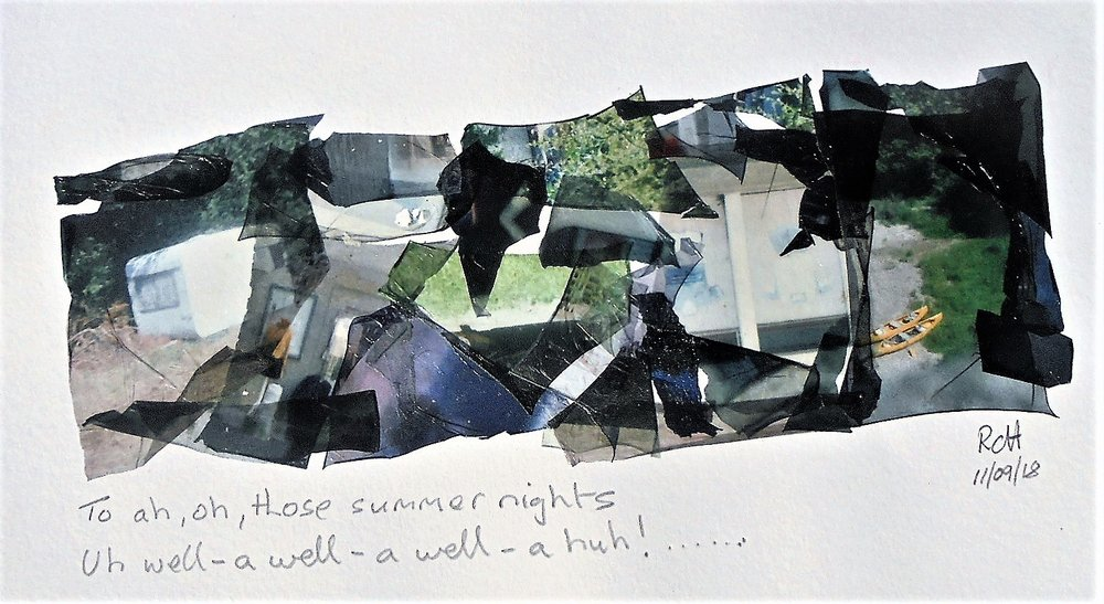 Summer Nights | Polaroid Land 100 | Fuji FP100C Emulsion Lift Collage | Robert Campbell Henderson