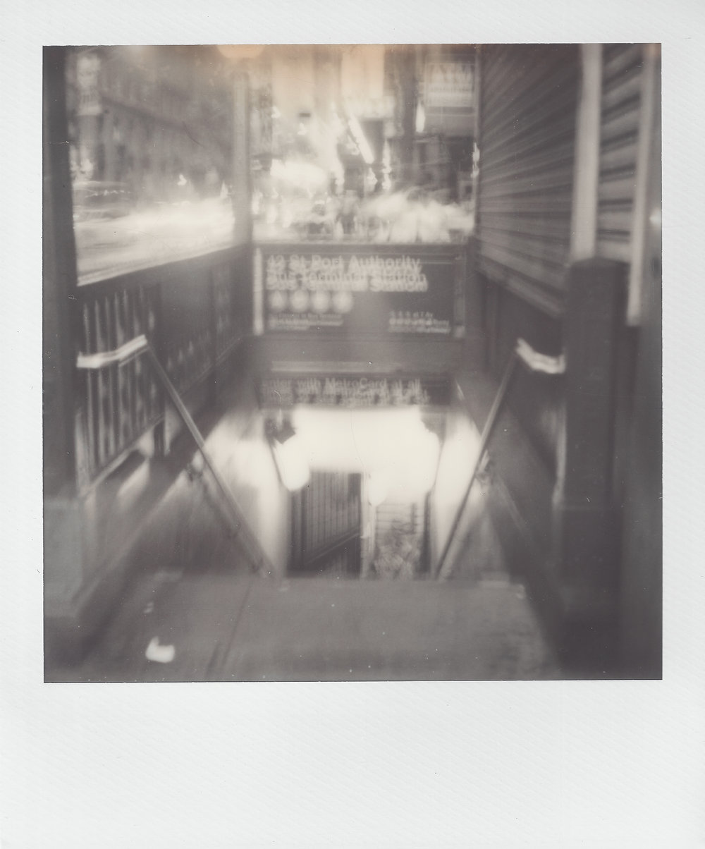 Subway Anxiety | Polaroid SX-70 | Rob Ritz