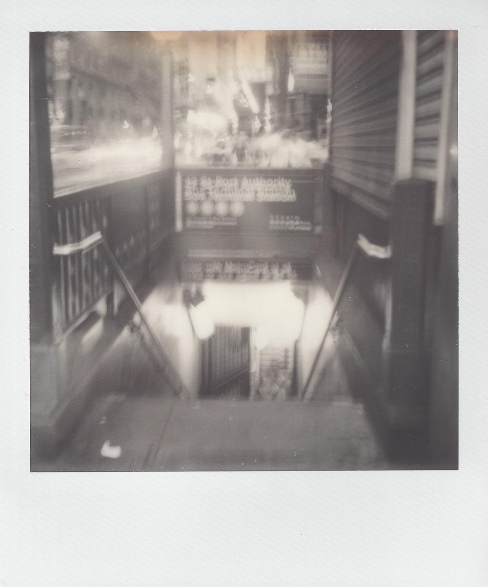 Subway Anxiety | Polaroid SX-70 | Rob Ritz