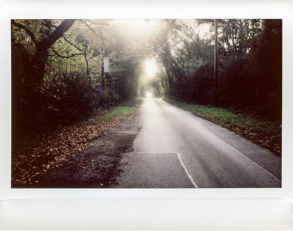 Lane, Rhiwceiliog | Fuji Instax Wide | Roger Harrison
