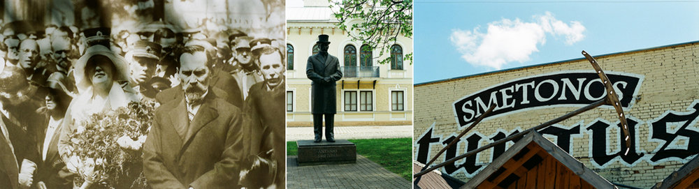 The human metamorphosis (the first president of Lithuania Antanas Smetona on the picture, his sculpture and the market place named after him in these days).