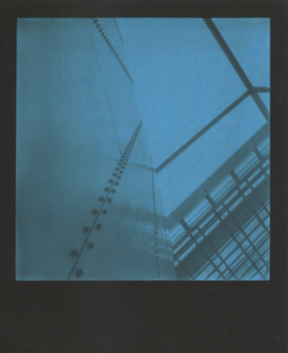 Docking Station | Converted SX70 | Black Blue Polaroid | Lucinda Nicholas