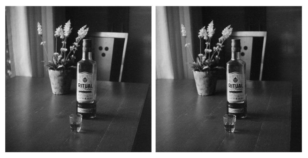 Howard Sandler | Stereo rum (cross eyed) | Kin-Dar stereo camera | Acros 100