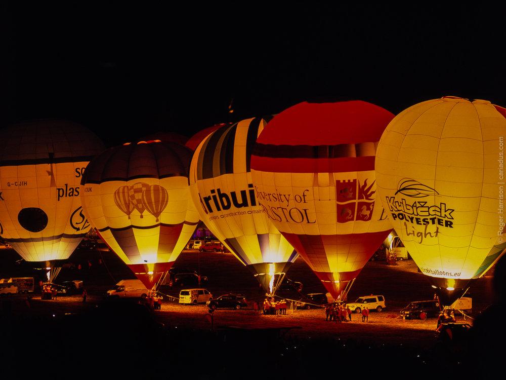 Bristol Balloon Fiesta, H1 on a monopod, HC 150mm, Provia 100F at 400