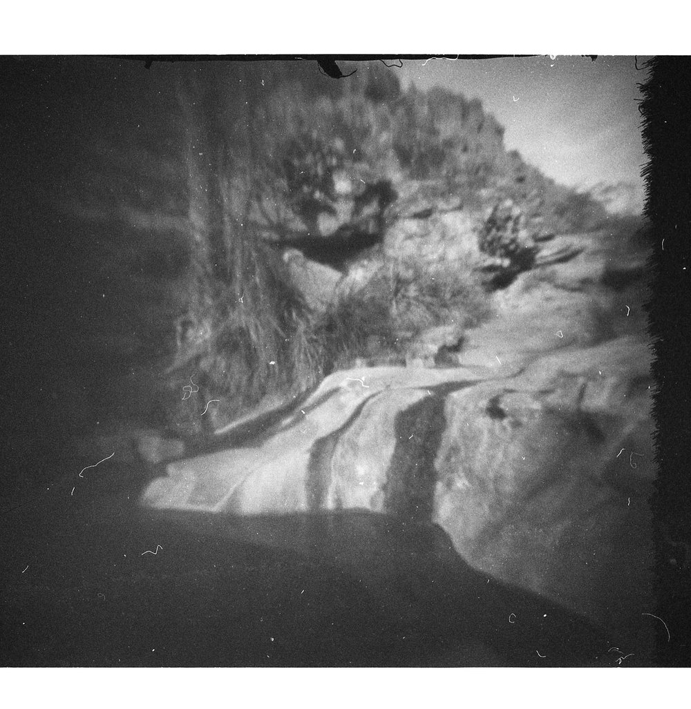 Small pool in Dog Canyon, NM. Frozen Photon 24Squared pinhole camera.