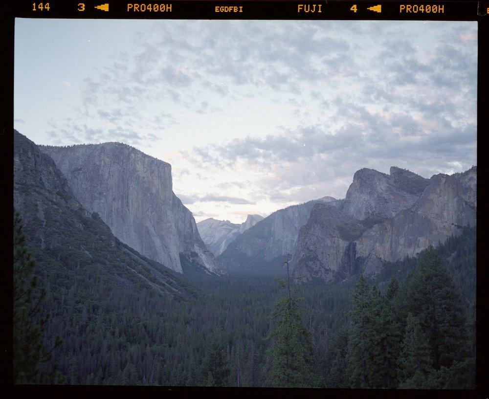 Tunnel View | Pentax 67 | FujiPro 400H | Chris McCarty