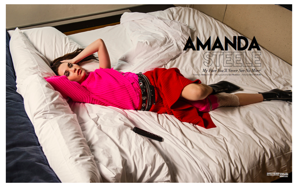 FLAUNT X AMANDA STEELE