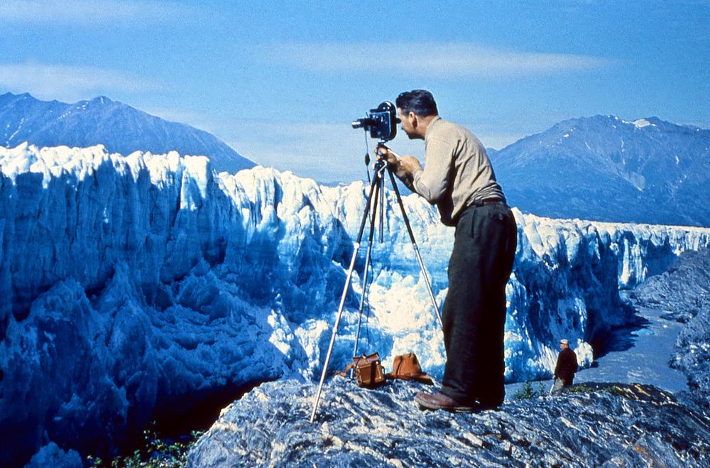 Ivan filming Knik Glacier