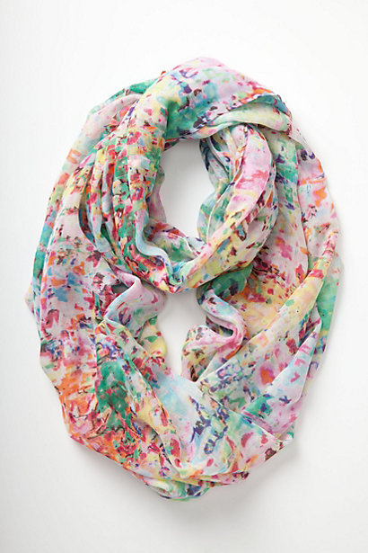 Anthropologie.com Blured Watercolor Infinity Scarf $48