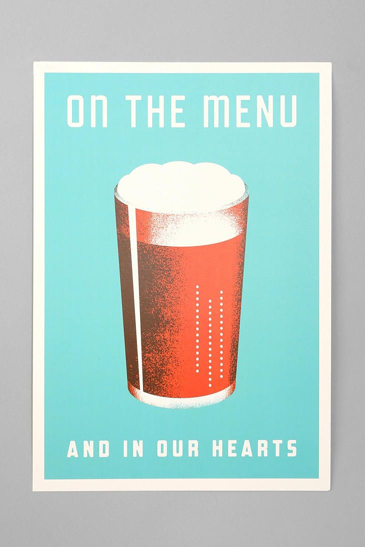 BEER ON THE MENU -URBAN OUTFITTERS $24