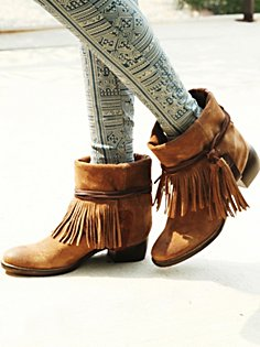 Lonesome Fringe Ankle Boot via Free People