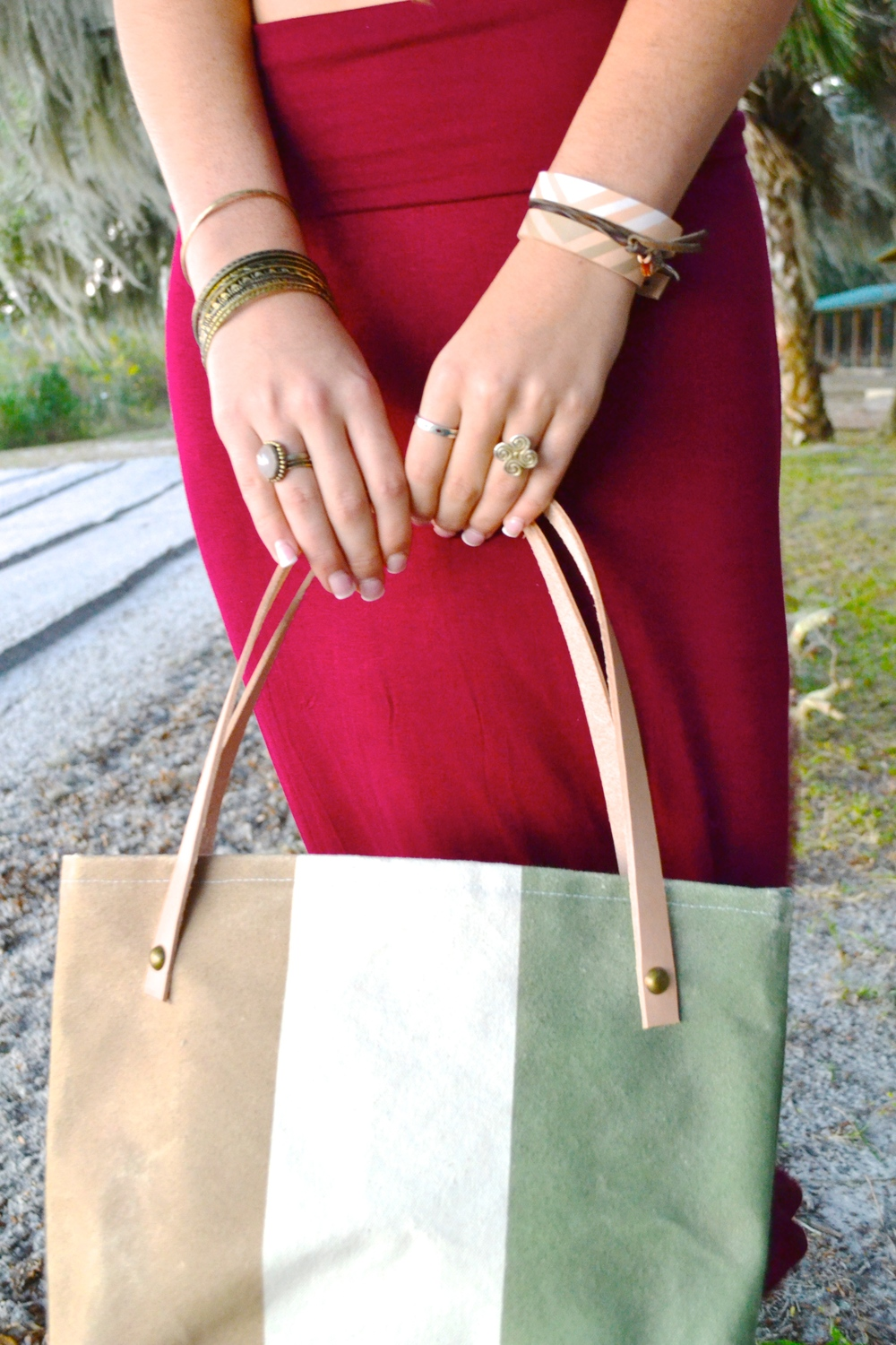 Summer Sol Tote in Olive | Sundown Style Company