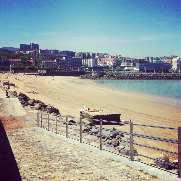 Finally got my first taste of what the weather will be like in getxo this summer! My run this morning was beautiful!