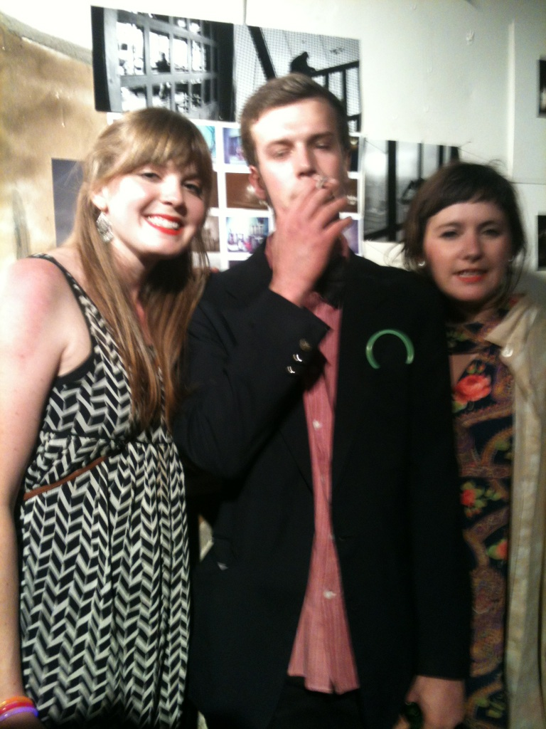 Thanks karls and soph for hosting, it was a great night!    karlyesmith :     me with two fabulous photographers from last nights AS IF art show