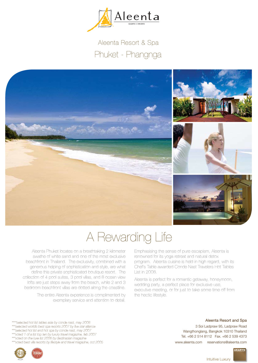 Promotional Pager for Aleenta Resort - Thailand -2009