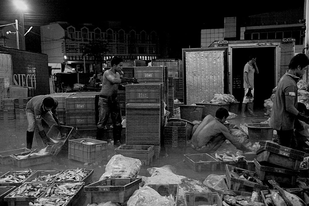 Mahachai Fishing Market for the world In the outskirt of Bangkok Thousands of Burmese migrant work in the fishing industries to feed the rest of the world