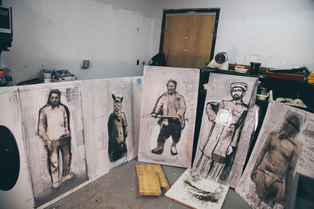 Darkroom/Studio view Work in progress .