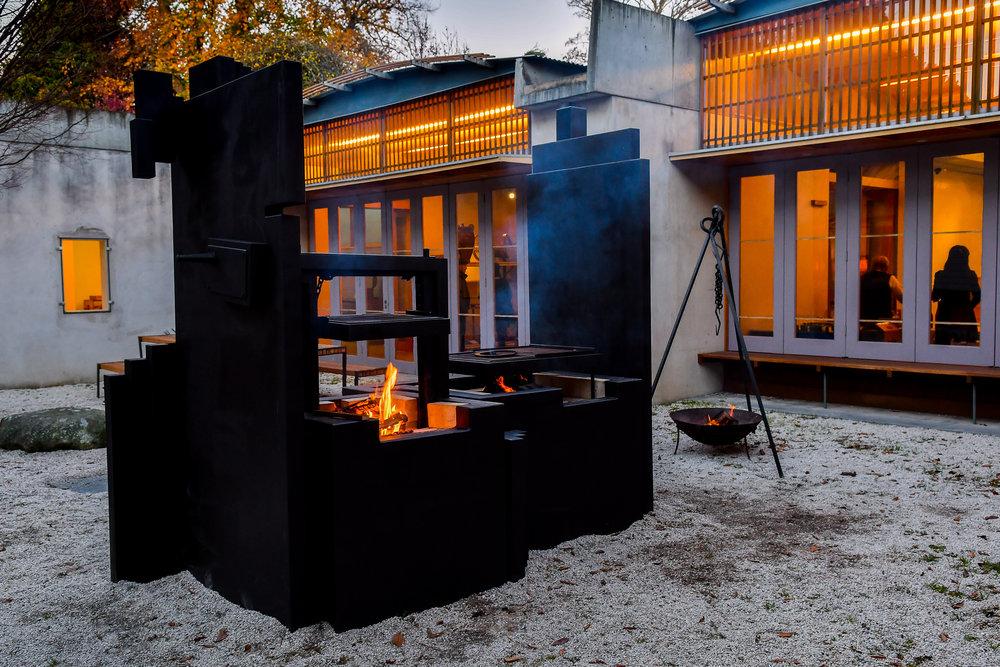 Brutalism Design Fire Kitchen (2800x2600x1400)