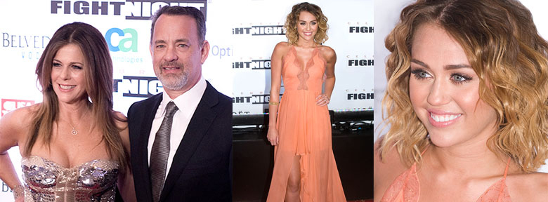 Mohammad Ali Celebrity Fight Night with Rita Wilson, tom Hanks, and Miley Cyrus