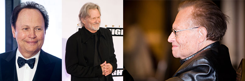 Billy Crystal, Kris Kristofferson, Larry King