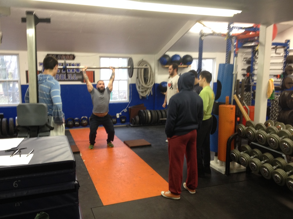 Seth demonstrates continental form axle press to the guys on DarkLion