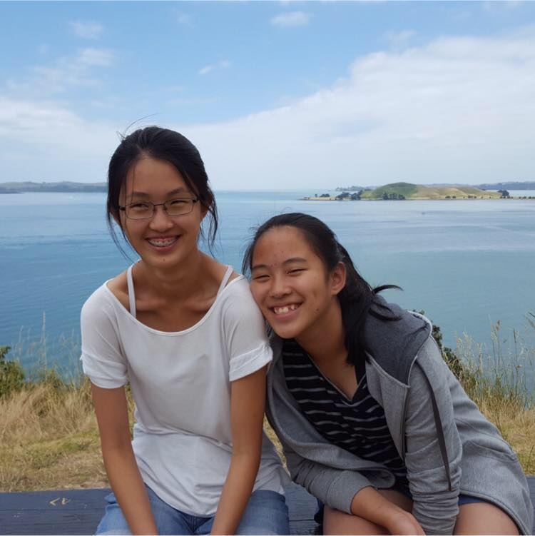 Pictured here with her little sister Joie (right), Nicole Lok is a lovely person and the treasurer of the current YF Committee.
