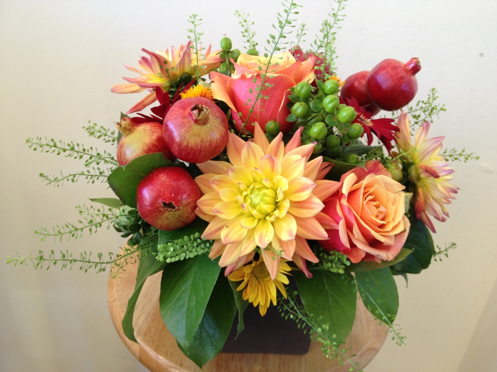 """Season of New Fruit""  arrangement, shown here for $65."