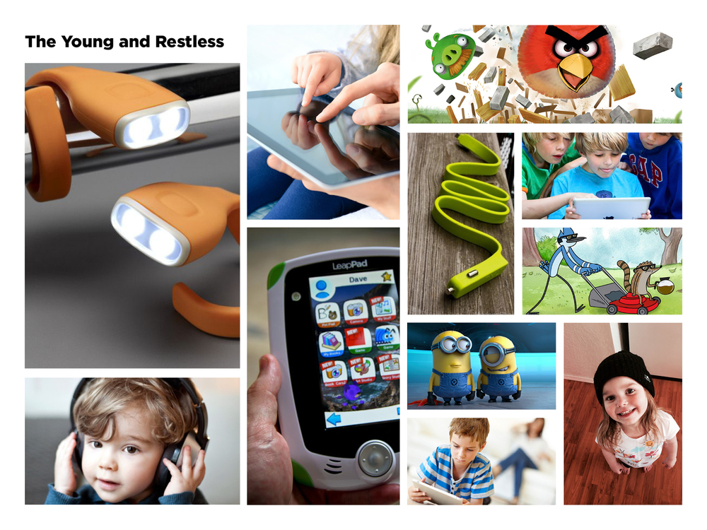"""The Young and the Restless"" refers to young children between the ages of 6 and 12 who have grown up with technology."