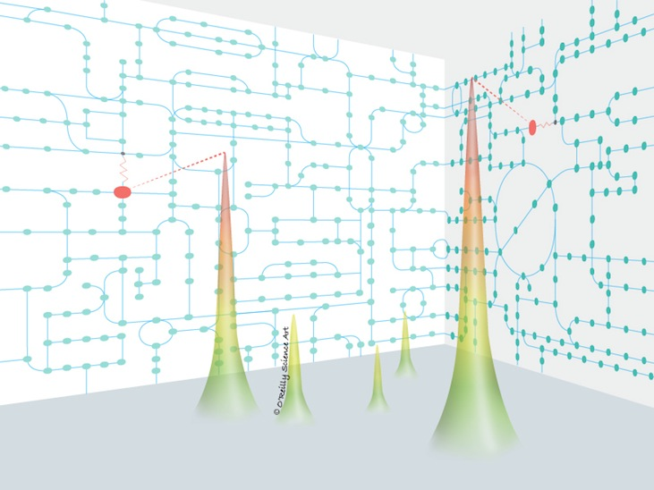 The Nomura Lab at UC Berkeley opened for business in 2011 with this illustration on their website to highlight their work on metabolic pathways and how perturbations at specific sites can cause all sorts of problems for us.