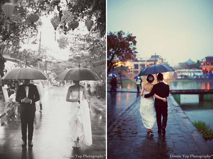 philip deniece pre wedding portrait hoi an vietnam danang rain blue umbrella lantern festival old china yellow wall spring flower beloved natural style laughter protection night portrait dennis yap photography malaysia wedding photographer-20.jpg