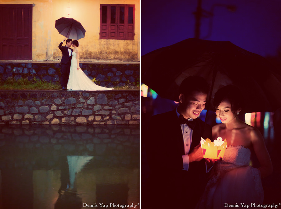 philip deniece pre wedding portrait hoi an vietnam danang rain blue umbrella lantern festival old china yellow wall spring flower beloved natural style laughter protection night portrait dennis yap photography malaysia wedding photographer-24.jpg