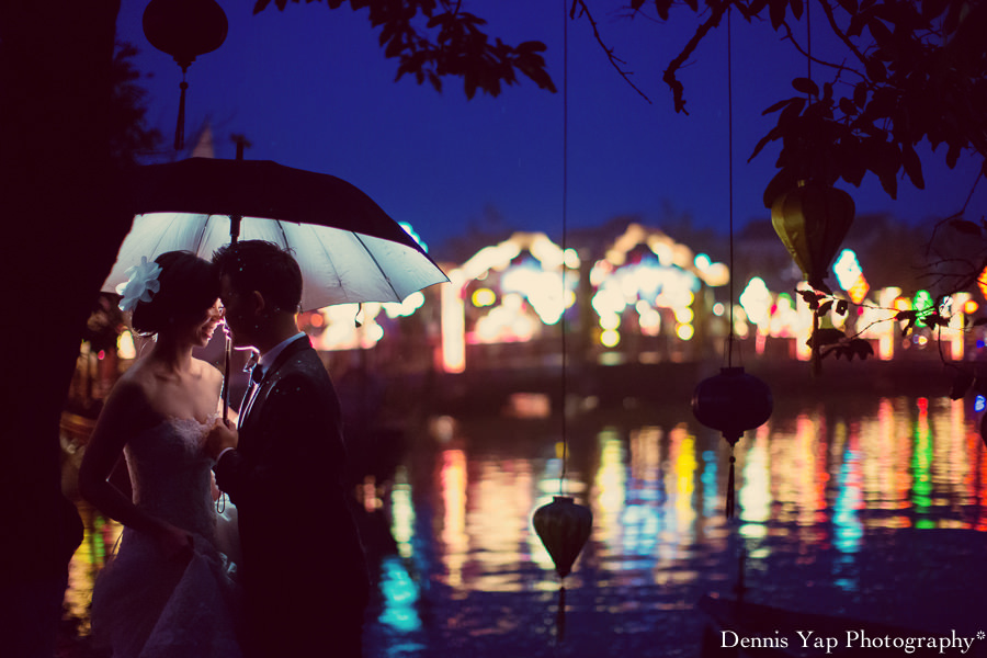philip deniece pre wedding portrait hoi an vietnam danang rain blue umbrella lantern festival old china yellow wall spring flower beloved natural style laughter protection night portrait dennis yap photography malaysia wedding photographer-26.jpg