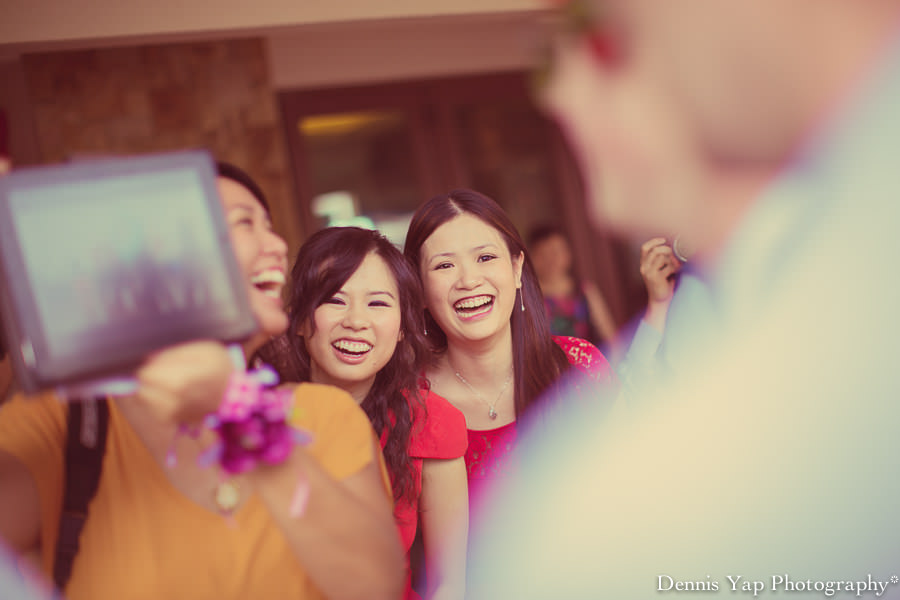 Joseph Vee Ann Wedding Day Malaysia Melbourne Dennis Yap Photography funny bride hyper energetic pink-10.jpg
