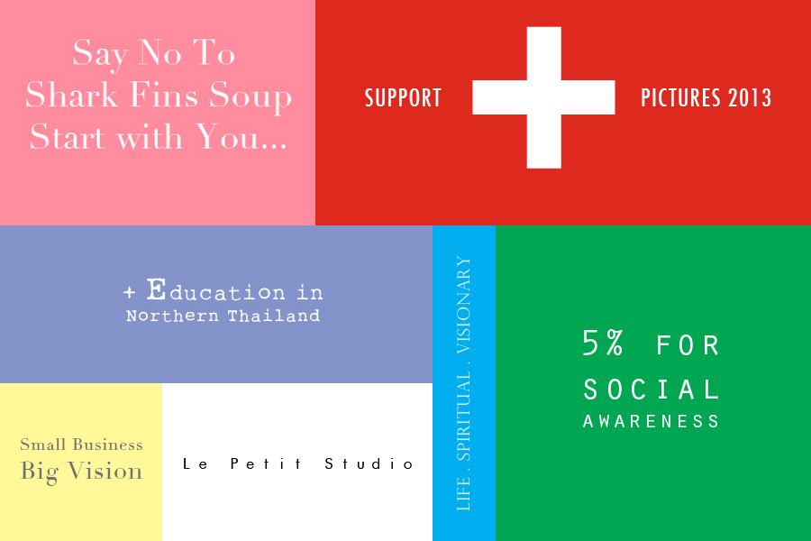 "Business embedded strong vision of ""No Shark Fin Soup"", ""Support Positive Pictures"", ""Education in Northern Thailand"", ""Promote Social Awareness"" and ""Small Business, Big Vision""."